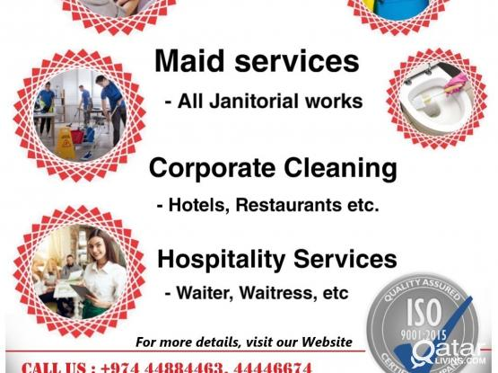ISO CERTIFIED HOSPITALITY AND CLEANING COMPANY