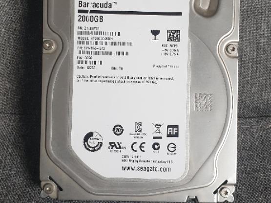 HD Hard Drive Seagate Internal 2Tb