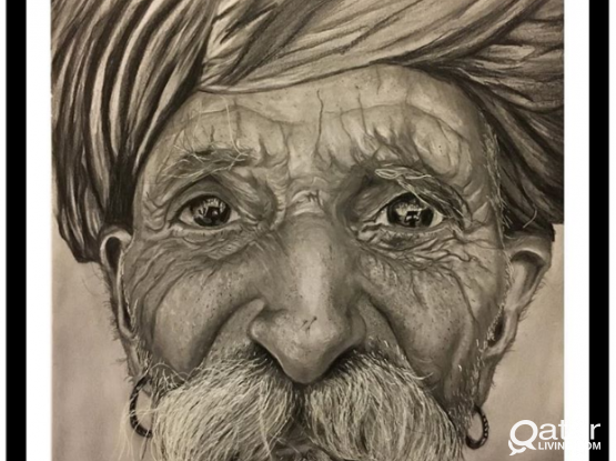 Customized Pencil or Charcoal Portraits Drawings