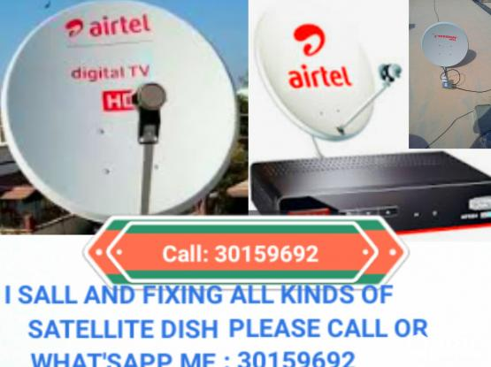 i do all kinds of satellite dish Tv work 33191271 also shifting moving fixing and any maintenance work