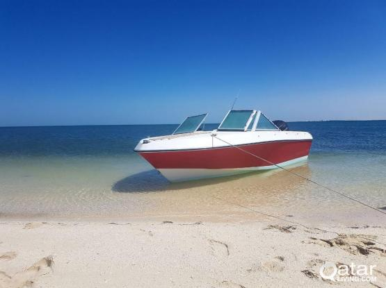 17ft boat, evinrude 90hp outboard engine