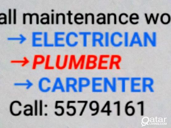 Electric, plumbing and carpenter work 55794161 dish satellite tv painting,   electrician, plumber, carpentery all maintenance work