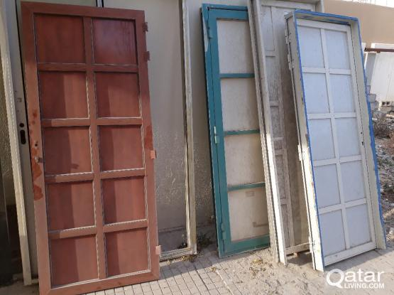 ALUMINUM DOOR WITH FRAME FOR SALE .only serious buyer