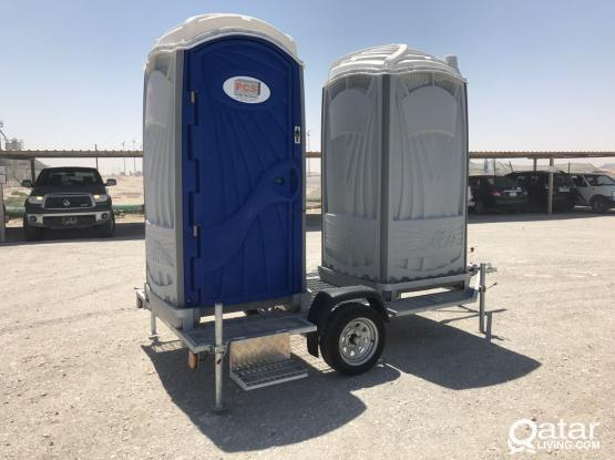 Trailer for chemical toilets/showers