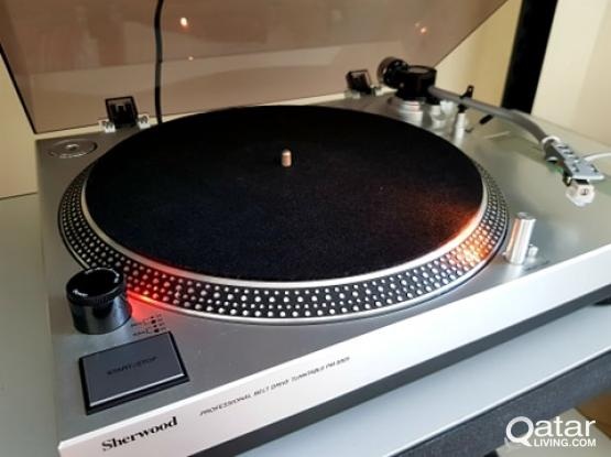 sherwood turntable and equalizer