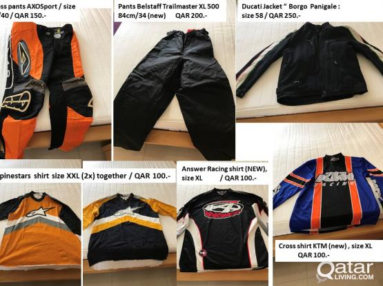Motorcycles clothes (several)