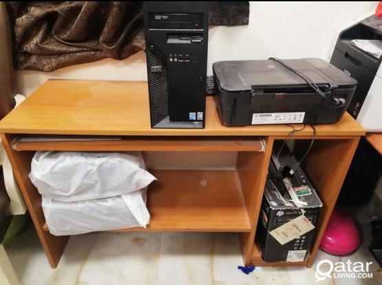 4SALE OFFICE DESK +LG FRIDGE