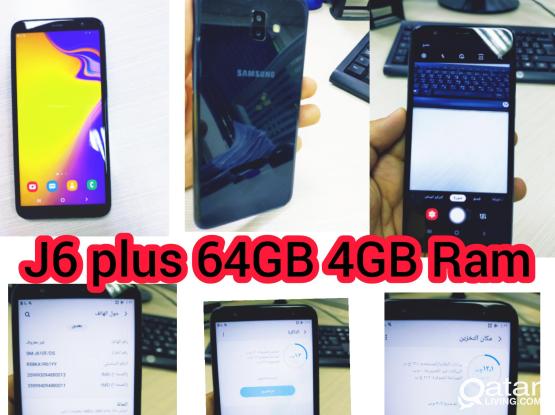 Samsung j6 plus 64 gb 4gb ram