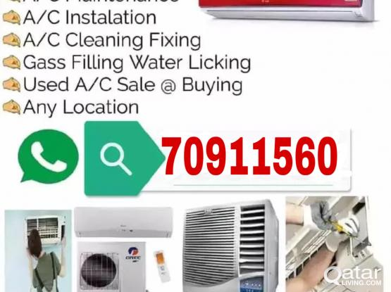 Ac services with repairing and gas filing call me- 70911560