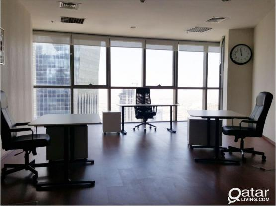 Fuly Furnished Offices  GREAT VIEW - FREE MONTH