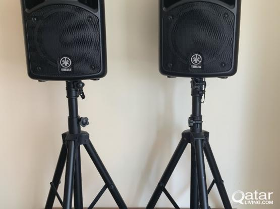 Yamaha Stagepas 400 portable PA system with stands