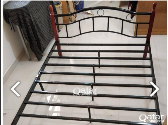 Steel cot for double bed