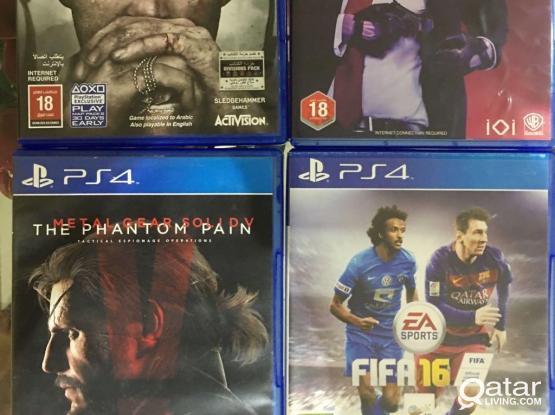 PS4 Games Urgent sale