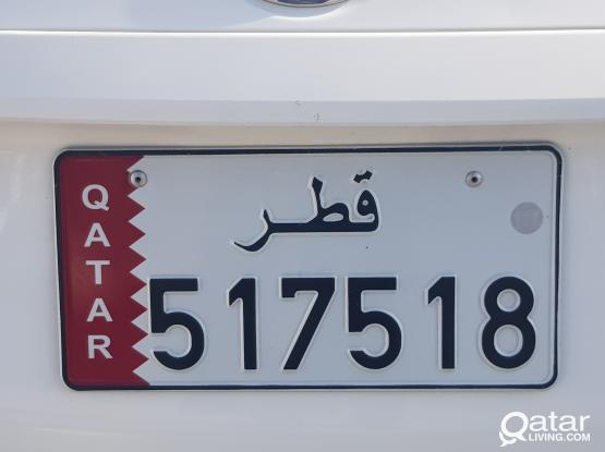 Excellent Number Plate and Easy remember Number Plate 517 518, Call or WhatsApp 70476467 for more details..