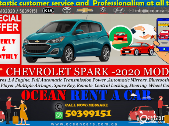 CHEVROLET SPARK- 2020 MODEL AVAILABLE FOR RENT!! CALL US NOW  :- 44182020/50399151