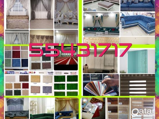 Carpet Curtain  Artificial Grass  PVC Plastic Parquet Vinyl Flooring Sales & Fixing . Call Me  55431717