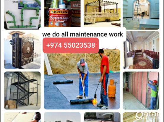 Welding|Gypsum|Water Proofing|Building Maintenance Professional | Painter & Decorator | Paving | Plumbing  |  Please call 55023538