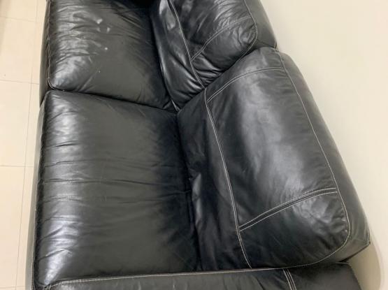 Black Genuine Leather Sofas