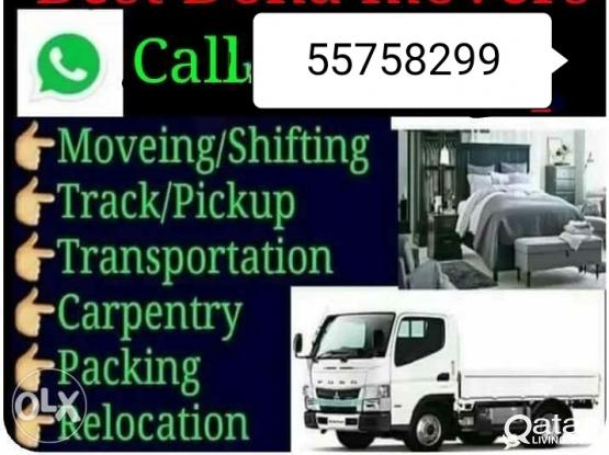 All kinds of Shifting and moving works. Please call or whatsapp 55758299