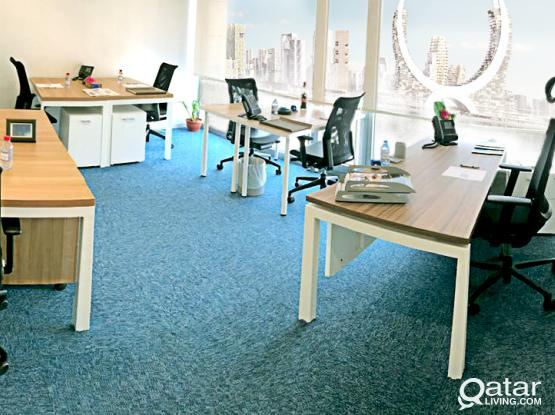 Fully Furnished Office - 21 sqm - It can accommodate up to 8 persons - at Markaz Business Center