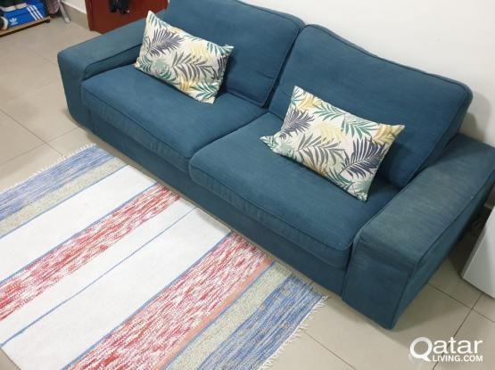 ikea sofa with carpet for sale
