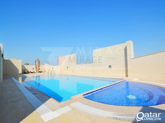 1 Month Free! 2 Bedroom Semi Furnished Apartment in Al Muntaza