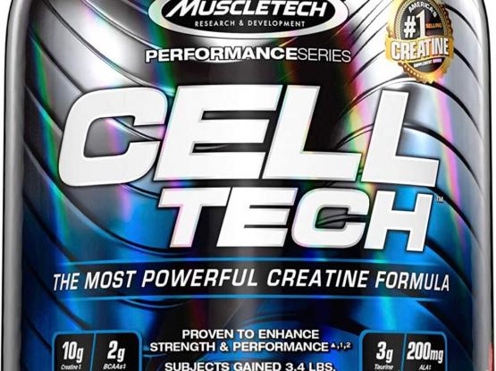 MuscleTech Cell Tech Creatine Monohydrate Formula Powder, HPLC-Certified, Improved Muscle Growth & Recovery, Fruit Punch, 56 Servings (6 lbs)