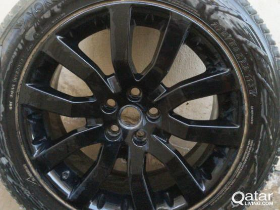 Good condition and Lexus tires with wheel for sale