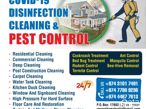 Cleaning & Pest Control Services +97431017491