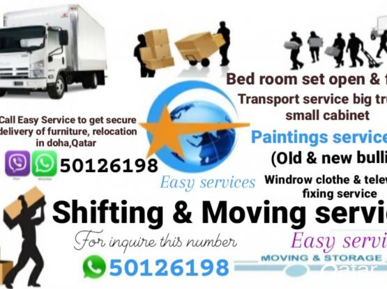 """Easy services "" in Doha,Qatar Moving & Shifting, Carpet,Windrow Curtain, Sofa clothe Old changes & new fixing. Please our Contract or whatsapp number 50126198"