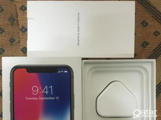 I Phone X 256 box with unopened accessories