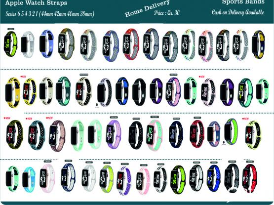 All kind of Watch straps available  (Apple watch, Samsung Galaxy, Gear S3, Galaxy Active, Huawei GT, 22mm  & 20mm)