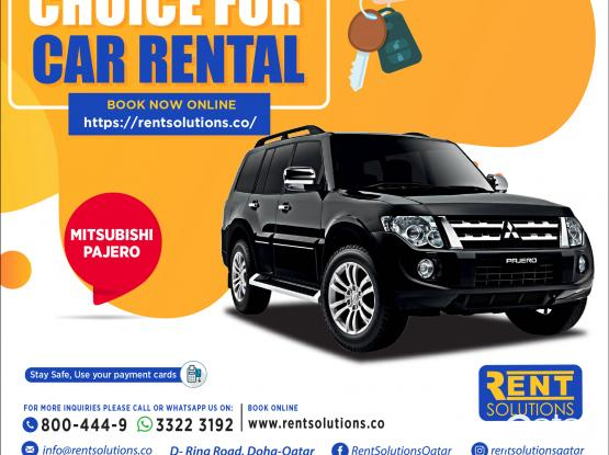 Mitsubishi Pajero Daily 195 QR - Monthly 2850 QR
