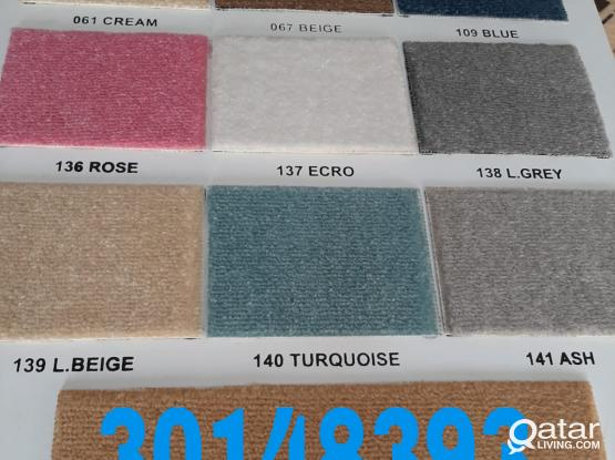 We are doing all type Turkey Model Carpet/Curtain/Plastic Making/selling with fixing call me-30148393