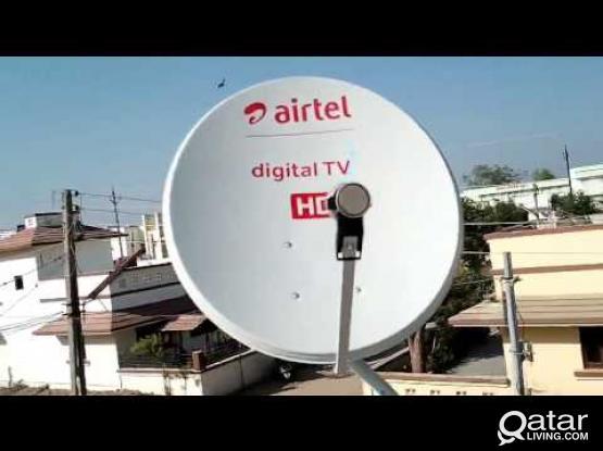 All kinds of satellite dish receiver sale and installation..Airtel•nilesat •arabsat•hotbird