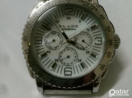 BLADE chronograph stainless steel watch for men