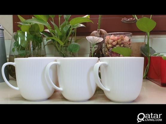 A set of 6 coffee mugs