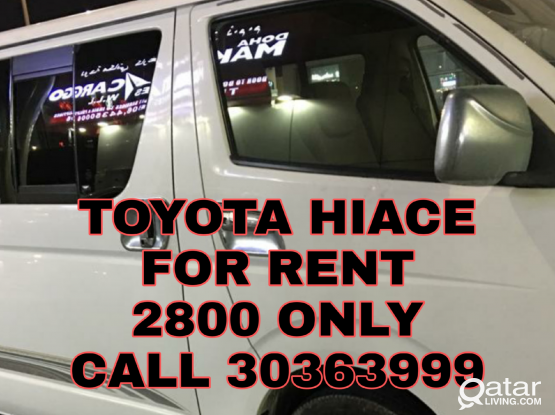Toyota hiace for rent 15 seater bus