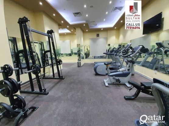 Furnished Flat 1 BHK including Kahramaa gym