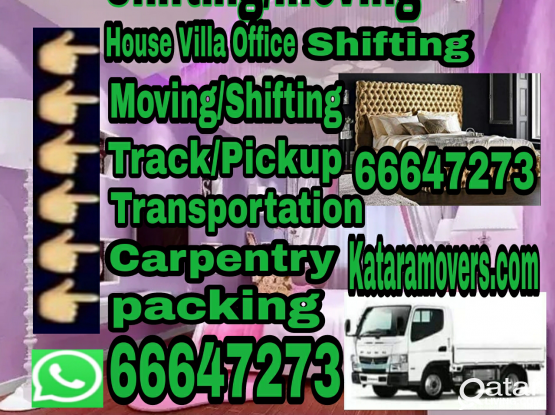 Qatar moving company House shifting moving Call 66647273 & Qatar service Please contact  {We do work low price} We do all kinds of household service items.Home, villa, office Moving / shifting.We are expert to move all kinds of bed room set Furniture. We
