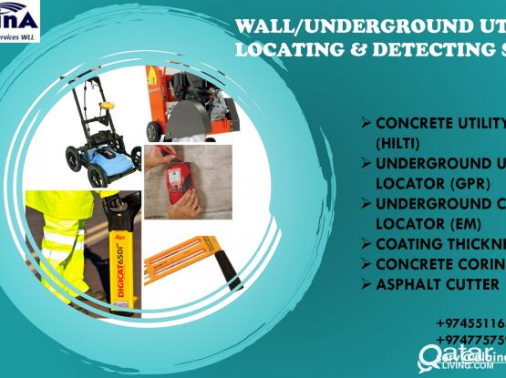 WALL/UNDERGROUND UTILITY LOCATING/DETECTING SERVICES