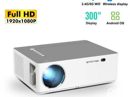BYINTEK Moon K20 Full HD Android Projector – 500 ANSI Lumens 1080p LED Video 300 inch Home Theater P