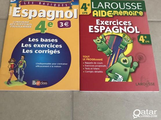 Spanish exercise  and answers notebook for French school