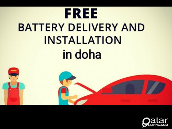 Free delivery and installation for car batteries in qatar.