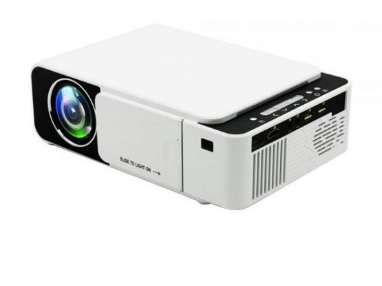 T5 LED Portable Mini Projector 800×480 Smart Video Projectors Home Theater White
