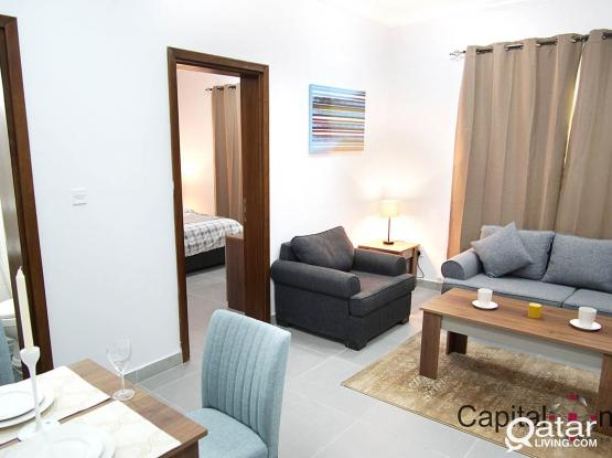 Stunning 1BHK (Furnished) Flat (all including) without Commission Charge
