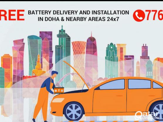 CAR BATTERY REPLACEMENT, MOBILE SERVICE QATAR. 24*7
