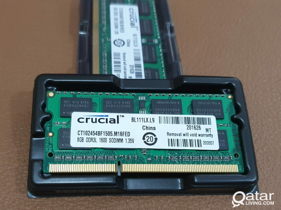 8GB DDR3L Laptop RAM 1600MHz