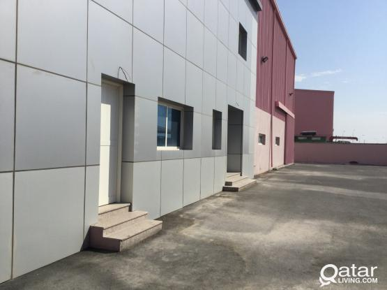 ALUMINUM GLASS FACTORY FOR RENT IN NEW INDUSTRIAL AREA 2700 SQMTR