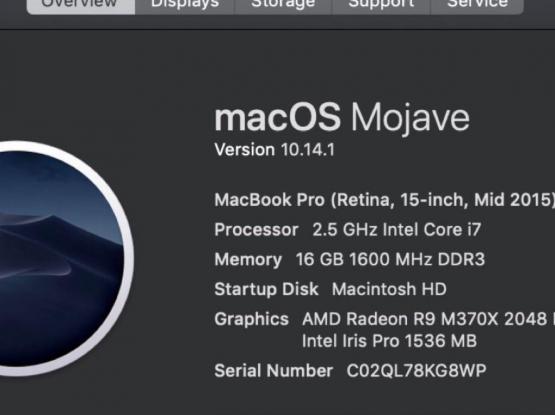MacBook Pro Retina 2015 15inch i7